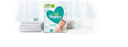 Large Product Image of Pampers Sensitive Water-Based Baby Diaper Wipes, 9 Refill Packs for Dispenser Tub - Hypoallergenic and Unscented - 576 Count