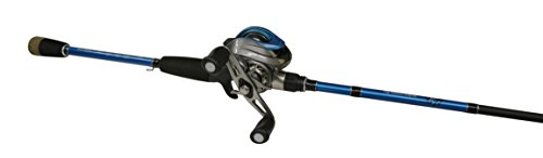 Eagle Claw Baitcast Fishing Rod Reel Brent Chapman Combo, Blue Black Silver, 7 Foot
