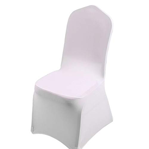 1pcs White Flat Arched Front Covers Spandex Lycra Chair Cover Wedding Party B