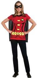 Female Superhero T-Shirt Adult Costume Robin - Small by Rubie's