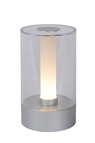 Lucide TRIBUN – Tafellamp – Ø 9 cm – LED Dimb. – 1x3W 3000K – 3 StepDim – Mat chroom