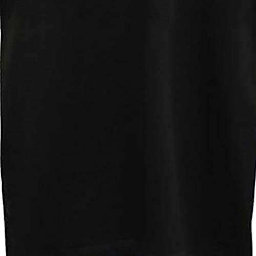 1 Camisetas Casual Impresión Elegantes Electrocardiograma Mujer T blusas Gusspower Corta Negro Manga Para Camisas Redondo Camiseta De shirt 86fTqT