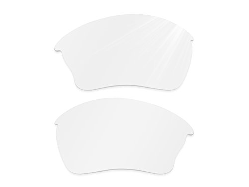 Glintbay Harden Coated Replacement Lenses for Oakley Half Jacket XLJ Sunglasses - Crystal Clear - Sunglasses Off White Small