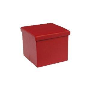 La Vida en Led Caseta Perro Gato Puff Asiento Desmontable Plegable (Rojo)
