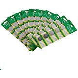 Thinkmax CR2032 Lithium 3V Batteries, 5 on a card (10 Cards - 50 -