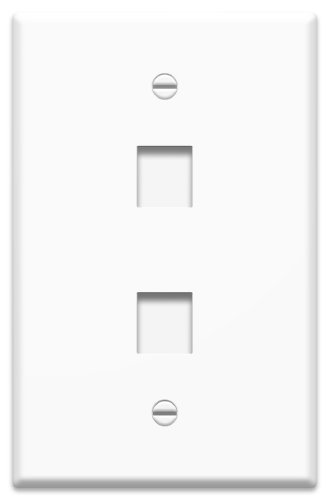 Legrand - On-Q WP3402WH25 1Gang, 2Port Wall Plate (25 pack), White