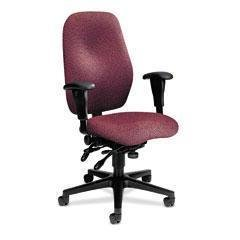 Hon Executive Upholstered Guest Chairs - HON 7808NT69T 7800 Series High-Performance High-Back Executive/Task Chair, Tectonic Wine