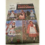 Simplicity 8234 Toddler Girls Nursery Rhymn Characters Costume Pattern Size 3 to 6, Riding Hood, Bo Peep, Dutch Girl, Betty Ross, -