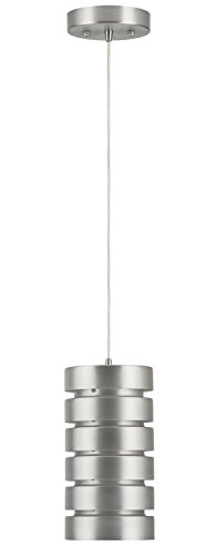 Macchione One-Light Industrial Pendant Lamp, Brushed Nickel Steel - Linea di Liara LL-P518