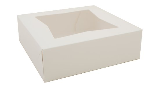 Southern Champion Tray 24013 Paperboard White Window Bakery Box, 8