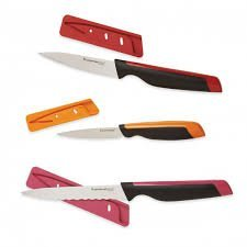 Tupperway Knives Utility Multipurpose Universal Series 3 Piece Set