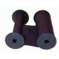 (2 x Replacement Ribbon for Rapidprint Time Stamp, Purple Ink)
