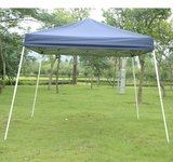 Outsunny Slant Leg Easy Pop-Up Canopy Party Tent, 10 x 10-Feet, Blue