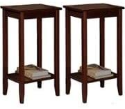 Set of 2 Rosewood Tall End Table