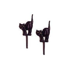 Halloween Black Cat Cupcake Picks - 24 ct