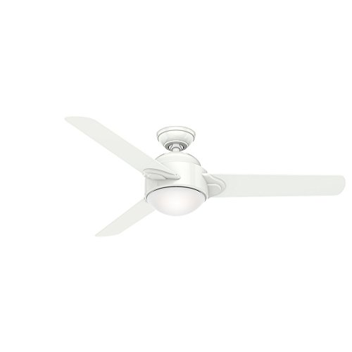 """Casablanca 54"""" Trident Snow White Ceiling Fan with Light and"""