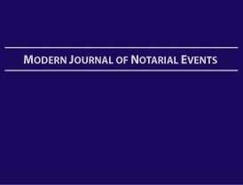 Modern Journal Of Notarial Events - Hard Cover