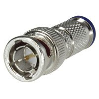 Compression Bnc Type Male Connector - Weatherproof BNC Male Compression Type Connector for RG6 Quad Shield Coaxial Cable, 10pcs/pack- Distributed by NAC Wire and Cables