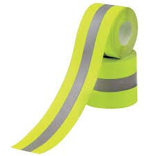 Just In Trend - Flame Resistant FR Sew On High Visibility Hi Vis Retro reflective tape (2'' x 25 yds, Lime/Silver) by Just In Trend (Image #3)