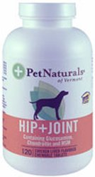 Pet Naturals of Vermont Hip and Joint Chicken Liver -- 120 Chewables