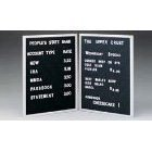 Open Face Changeable Wall Mounted Letter Board Size: 24'' H x 18'' W x 0.56'' D by Ghent