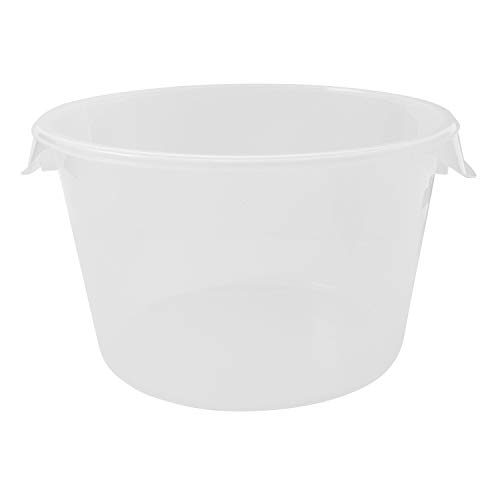 Rubbermaid Commercial Products Plastic Round Food Storage Container for Kitchen/Food Prep/Storing, 12 Quart, Clear, Container Only (FG572624CLR) ()