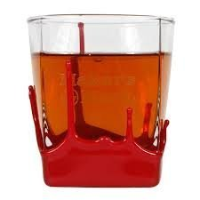Maker`s Mark Bourbon Whisky Dipped Red Wax Seal Classic Rocks Glass