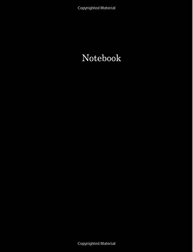 Black Pages Basic - Notebook (College Ruled, 100 pages, Basic Black)