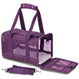 - Sherpa Original Deluxe Pet Carriers With Bonus Go Dog Dragon Pet Toy (plum, medium)