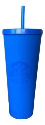 (Starbucks Matte Blue Cold Cup Acrylic Travel Tumbler, Venti, 24 fl oz)