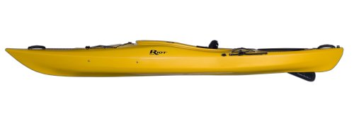 Riot Kayaks Edge 11 LV Flatwater Day Touring Kayak (Yellow/Orange, 11-Feet)