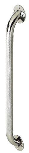 Medline 24 Inch Grab Bar, Knurled Chrome