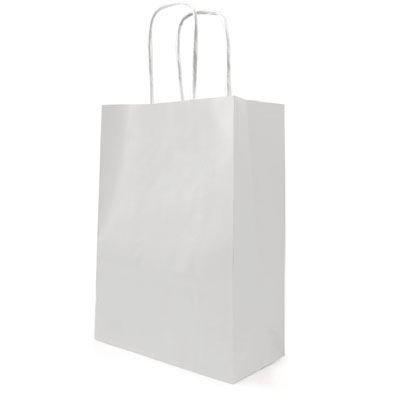 10 grandes bolsas de papel Kraft manija de la torcedura ...