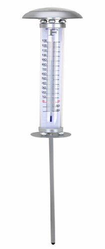 Weather Solar Gauge Light (BTR T004 SOLAR Light Thermometers, Silver)