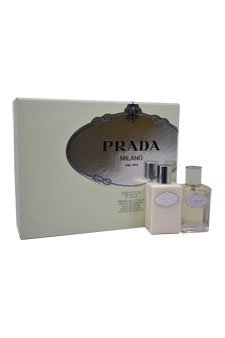 Prada Milano Infusion D'iris for Women Gift Set (Eau de Parfum Spray, Hydrating Body Lotion)