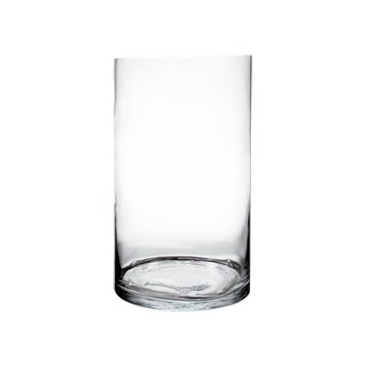 CYS EXCEL Glass Vase, Cylinder Vase, Glass Cylinder Tall Vase, 6 Size Available, (Pack of 1) (H:20