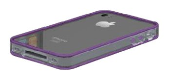 Scosche bandEDGE Hard Case for iPhone 4 - AT&T and Verizon - 1 Pack - Retail Packaging - Clear/Purple