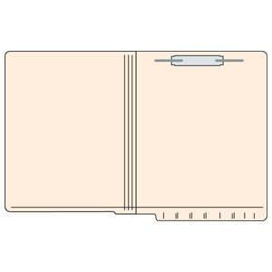 9-1/2''H x 12-1/4''W Manila 11PT 2-Ply Reinforced Letter Size Folder (250/Case) - TBBS-56023