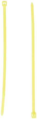 Monoprice Cable Tie 4 inch 18LBS, 100pcs/Pack - Yellow