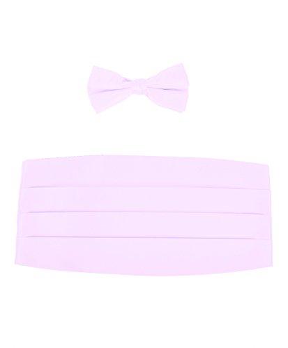 Boy's Solid Poly Satin - Bow Tie and Cummerbund Sets , Lavender (Lilac Cummerbund)