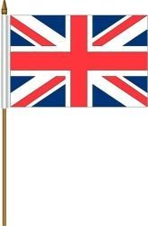 United Kingdom UK Great Britain Small 4 X 6 Inch Mini Country Stick Flag Banner with 10 Inch Plastic Pole Great Quality…