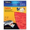 Fellowes 52031 Laminating Pouches,Business Card,2-1/4''x3-3/4,100/PK,CL