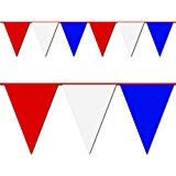 Red, White and Blue Triangle Pennant Flag 100 Ft.]()