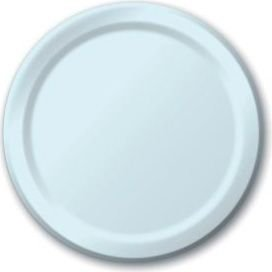 Creative Converting Touch of Color 24 Count Paper Banquet Plates, Pastel Blue