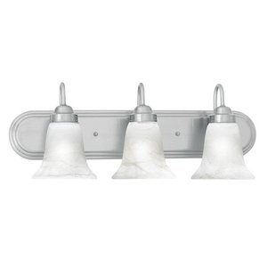 Thomas Lighting SL758378 Homestead 3-Light Lamp in Brushed Nickel Vanity Wall Sconce, Three