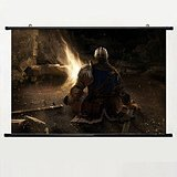 Home Decor Art Game Poster With Dark Souls 23 Wall Scroll Fabric Painting