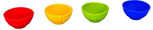 Mini Condiment Pinch Bowls, 4 Piece Set of 4 Colors