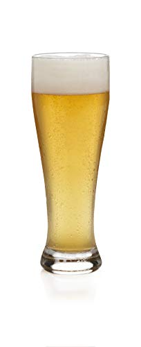 Libbey Giant Beer Glass Set, 6-22.5 ounce Wheat Beer Glasses, 9.25 inch height, Lead-Free