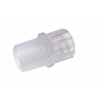 Cole-Parmer Adapter, PVDF, Male Luer to 1/8-27 Thread, 25/Pack