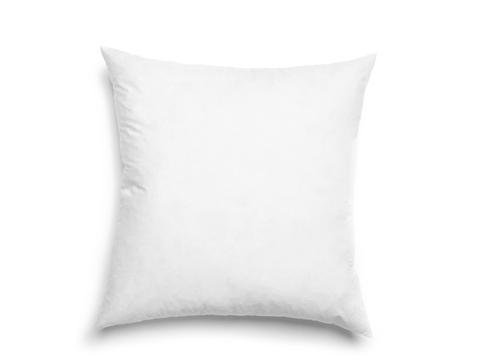 50% White Goose Feather - Better Down Luxurious 16-by-16 Inch 50% White Goose Down and 50% Goose Feather Euro Pillow, White
